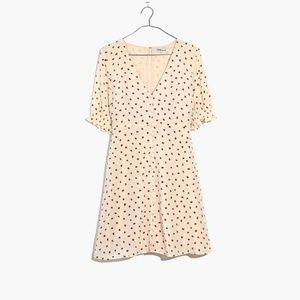 NWT Madewell 100% Silk Clover Button-Front Dress i